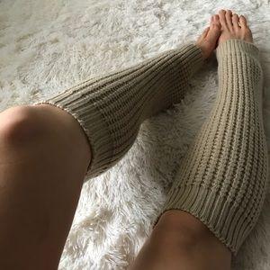 Other - Versatile Beige Leg Warmers